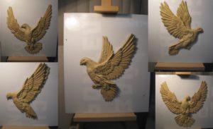 Фигуры голубей для орнамента