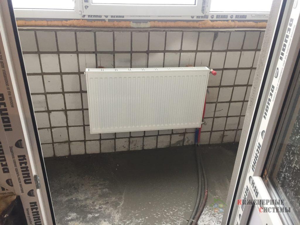 Перенесли радиатор